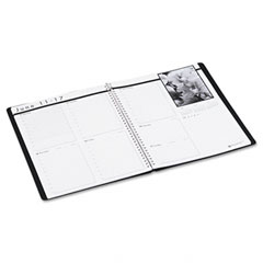 House Of Doolittle 2171-02 Weekly Planner W/Black-&-White Photos, 8-1/2 X 11, Black, 2012