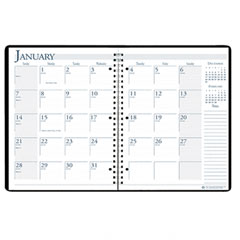 House Of Doolittle 263-02 Spiralbound 14-Month Academic Appointment Book, 8-1/2 X 11, Black, 2011-2012