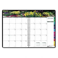 House Of Doolittle 2646-32 Gardens Of The World Ruled Monthly Planner, 7 X 10, Black, 2012