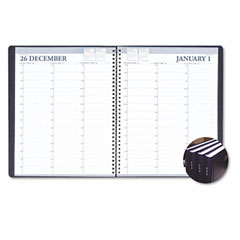 House Of Doolittle 272-92 Professional Hardcover Weekly Planner, 15-Minute Appts., 8-1/2 X 11, Black, 2012