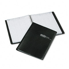 House of doolittle - eight-person group practice daily appointment book, 8 x 11, black, sold as 1 st