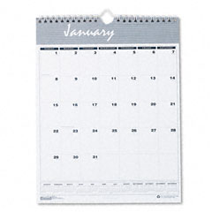 House of doolittle - bar harbor wirebound monthly wall calendar, 8-1/2 x 11, sold as 1 ea
