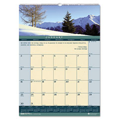House of doolittle - landscapes monthly wall calendar, 12 x 16-1/2, sold as 1 ea