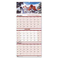 House of doolittle - scenic landscapes three-months-per-page wall calendar, 12-1/4 x 26-1/2, sold as 1 ea