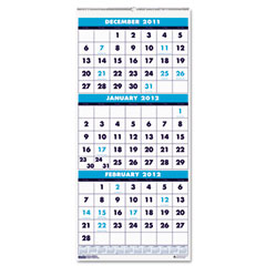 House of doolittle - three-month format wall calendar, 8 x 17, sold as 1 ea