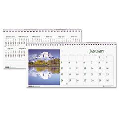 House Of Doolittle 3649 Scenic Photos Desk Tent Monthly Calendar, 8-1/2 X 4-1/2, 2012