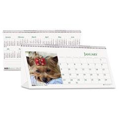 House Of Doolittle 3659 Puppy Photos Desk Tent Monthly Calendar, 8-1/2 X 4-1/2, 2012
