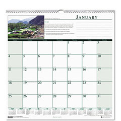 House Of Doolittle HOD3681 Golf Courses Monthly Wall Calendar, 12 x 12