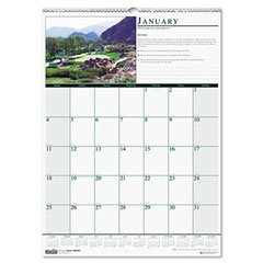 House Of Doolittle HOD3682 Golf Courses Monthly Wall Calendar, 12 x 16-1/2