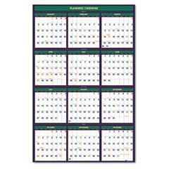 House of doolittle - four seasons reversible/erasable business/academic year wall calendar, 24 x 37, sold as 1 ea