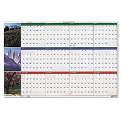 House of doolittle - earthscapes nature scenes reversible/erasable yearly wall calendar, 32 x 48, sold as 1 ea