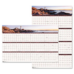 House Of Doolittle 3968 Earthscapes Coastline Scenes Reversible/Erasable Wall Calendar, 24 X 37, 2012