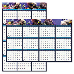 House Of Doolittle 3969 Earthscapes Sea Life Scenes Reversible/Erasable Wall Calendar, 24 X 37, 2012