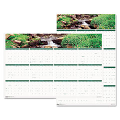 House Of Doolittle 397 Waterfalls Of The World Reverse/Erase Yearly Wall Calendar, 24 X 37, 2012