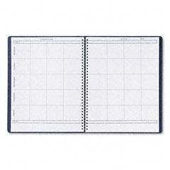 House of doolittle - lesson plan book, embossed leather-like cover, 11 x 8-1/2, blue, sold as 1 ea