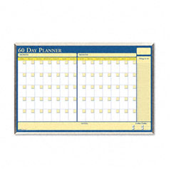 House Of Doolittle HOD6653 60-Day Wall Planner, Laminated, 32 x 21 1/2, Blue/White/Yellow/Silver
