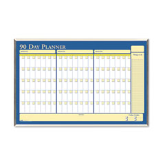 House Of Doolittle 6655 Framed Planner, 90 Day, 32 X 21 1/2, Silver