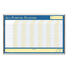 House Of Doolittle HOD6669 Wall Planner, Laminated, 40 x 26, Blue/White/Yellow, Aluminum Frame