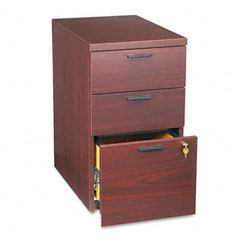 HON 105102NN 10500 Series Box/Box/File Mobile Pedestal, 15-3/4W X 22-3/4D X 28H, Mahogany