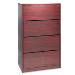 HON 10516NN 10500 Series Four-Drawer Lateral File, 36W X 20D X 59-1/8H, Mahogany