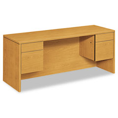 Hon - 10500 series kneespace credenza with 3/4-height pedestals, 72w x 24d, harvest, sold as 1 ea