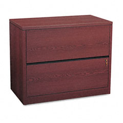 HON 10563NN 10500 Series Two-Drawer Lateral File, 36W X 20D X 29-1/2H, Mahogany