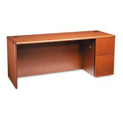 HON 10707RJJ 10700 Series Right Pedestal Credenza, 72W X 24D X 29-1/2H, Henna Cherry