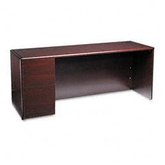 Hon - 10700 series left pedestal credenza, 72w x 24d x 29-1/2h, mahogany, sold as 1 ea