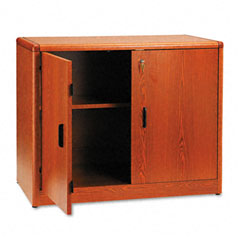 HON 107291JJ 10700 Series Locking Storage Cabinet, 36W X 20D X 29-1/2H, Henna Cherry