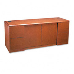 HON 10742JJ 10700 Series Credenza With Doors, 72W X 24D X 29-1/2H, Henna Cherry