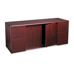 Hon - 10700 series credenza with doors, 72w x 24d x 29-1/2h, mahogany, sold as 1 ea