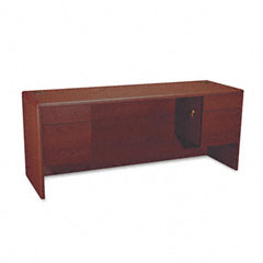 Hon - 10700 kneespace credenza, 3/4 height pedestals, 72w x 24d x 29-1/2h, mahogany, sold as 1 ea