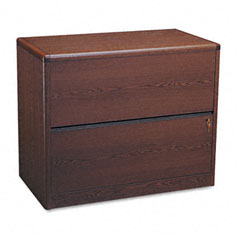 HON 10762N 10700 Series Two-Drawer Lateral File, 36W X 20D X 29-1/2H, Mahogany