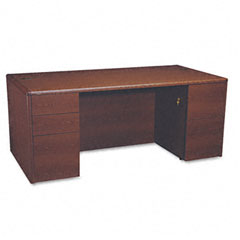 Hon - 10700 double pedestal desk with full pedestals, 72w x 36d x 29-1/2h, mahogany, sold as 1 ea
