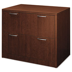 HON HON118690NN Attune Series Lateral File, Two-Drawer, 36w x 24d x 29-1/2h, Mahogany