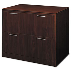 HON 118699NN Attune Series Lateral File, Four-Drawer, 36W X 20D X 59-1/2H, Mahogany