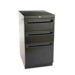 HON 18720KP Flagship Mobile Box/Box/File Pedestal, Recessed Pull, 19-7/8D, Black