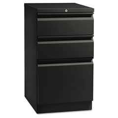 HON 18720RP Flagship Mobile Box/Box/File Pedestal, Full Radius Pull, 19-7/8D, Black
