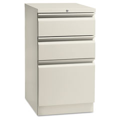 HON 18720RQ Flagship Mobile Box/Box/File Pedestal, Full Radius Pull, 19-7/8D, Light Gray