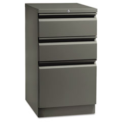 HON 18720RS Flagship Mobile Box/Box/File Pedestal, Full Radius Pull, 19-7/8D, Charcoal