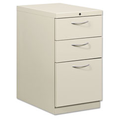 HON 18723AQ Flagship Mobile Box/Box/File Pedestal, Arch Pull, 22-7/8D, Light Gray