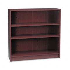 Hon - 1870 series bookcase, 3 shelves, 36w x 11-1/2d x 36-1/8h, mahogany, sold as 1 ea