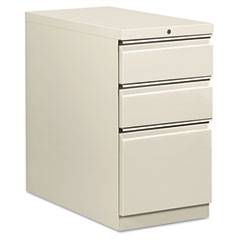 HON 18730RQ Flagship Mobile Box/Box/File Pedestal, Full Radius Pull, 28-7/8D, Light Gray