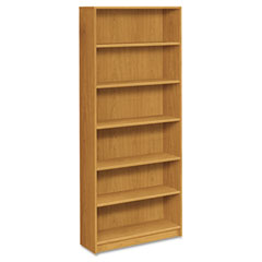 Hon - 1870 series bookcase, 6 shelves, 36w x 11-1/2d x 84h, harvest, sold as 1 ea