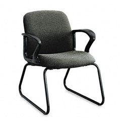 HON 2073BW19T Gamut Series Guest Chair, Black Loop Arms/Sled Base, Iron Gray Fabric