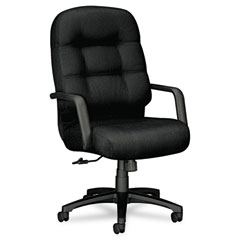 Hon - 2090 pillow-soft executive high-back swivel/tilt chair, black fabric/black base, sold as 1 ea
