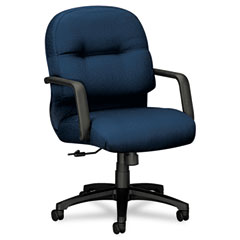 Hon - 2090 pillow-soft managerial mid-back swivel/tilt chair, mariner, black base, sold as 1 ea