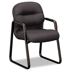 HON 2093NT10T 2090 Pillow-Soft Series Guest Arm Chair, Black Upholstery/Black Sled Base
