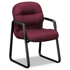HON 2093NT69T 2090 Pillow-Soft Series Guest Arm Chair, Wine Upholstery/Black Sled Base