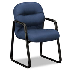 HON 2093NT90T 2090 Pillow-Soft Series Guest Arm Chair, Mariner Upholstery/Black Sled Base